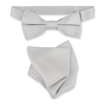 Biagio 100% zijde BowTie solide Mens strikje & zakdoek