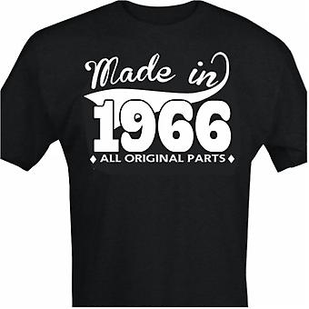 Zwart T-shirt met design-made in 1966-alle originele onderdelen