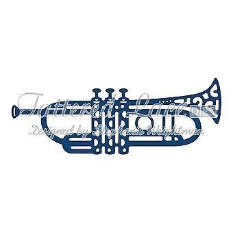 Trompet: fillete blonder metall Die Paper Card Stephanie Weightman