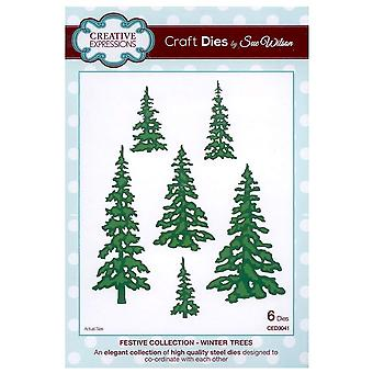 Creative Expressions Festive Collection - Winter Trees Die Set by Sue Wilson CED3041