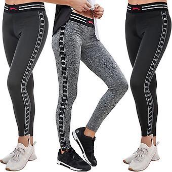 Slazenger Womens Kerin fuld længde gym træning sport leggings bunde bukser