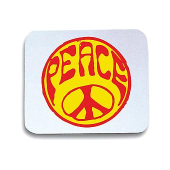 Tappetino mouse pad bianco wtc0735 peace sign