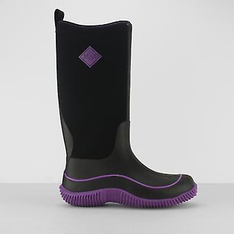 Muck Boots Hale Ladies Rubber Wellington Boots Black/purple