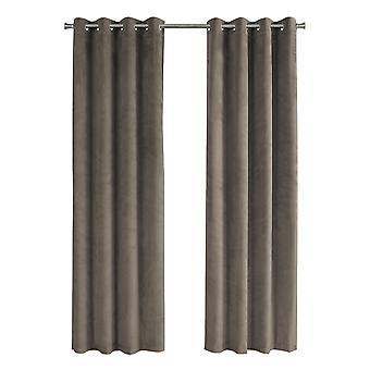 "52"" x 95"" Taupe, Room Darkening - Curtain Panel 2pcs"