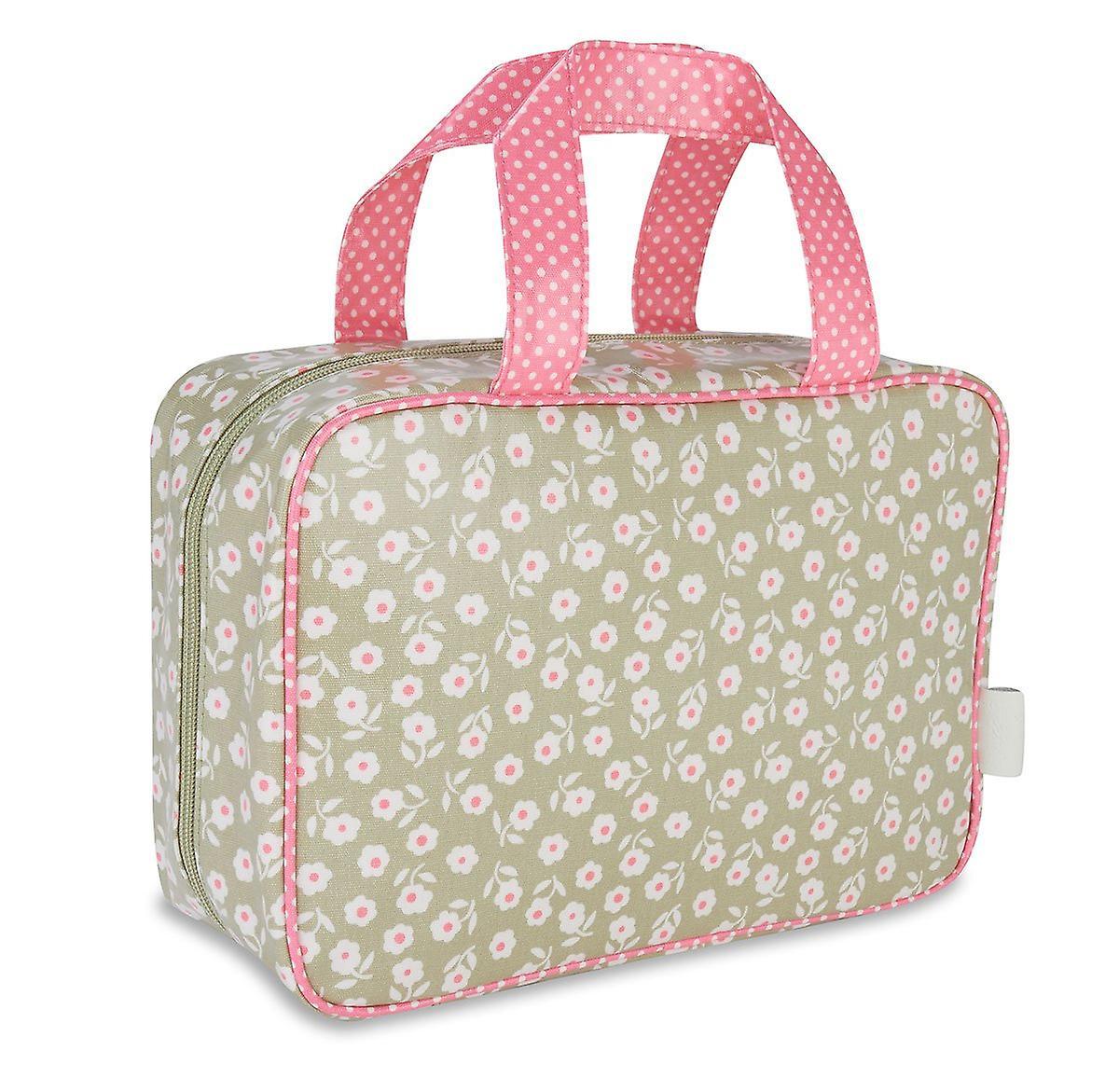'victoria green' hanging traveller wash bag - daisy sage