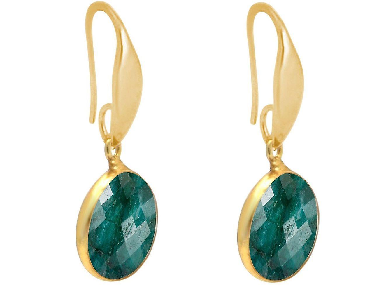 Gemshine Ohrringe Smaragd Edelstein Tropfen in 925 Silber, vergoldet oder rose