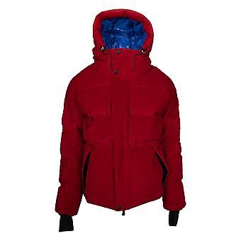 Moncler Stuller kapucnis Corduroy puffer kabát mérete 5 piros