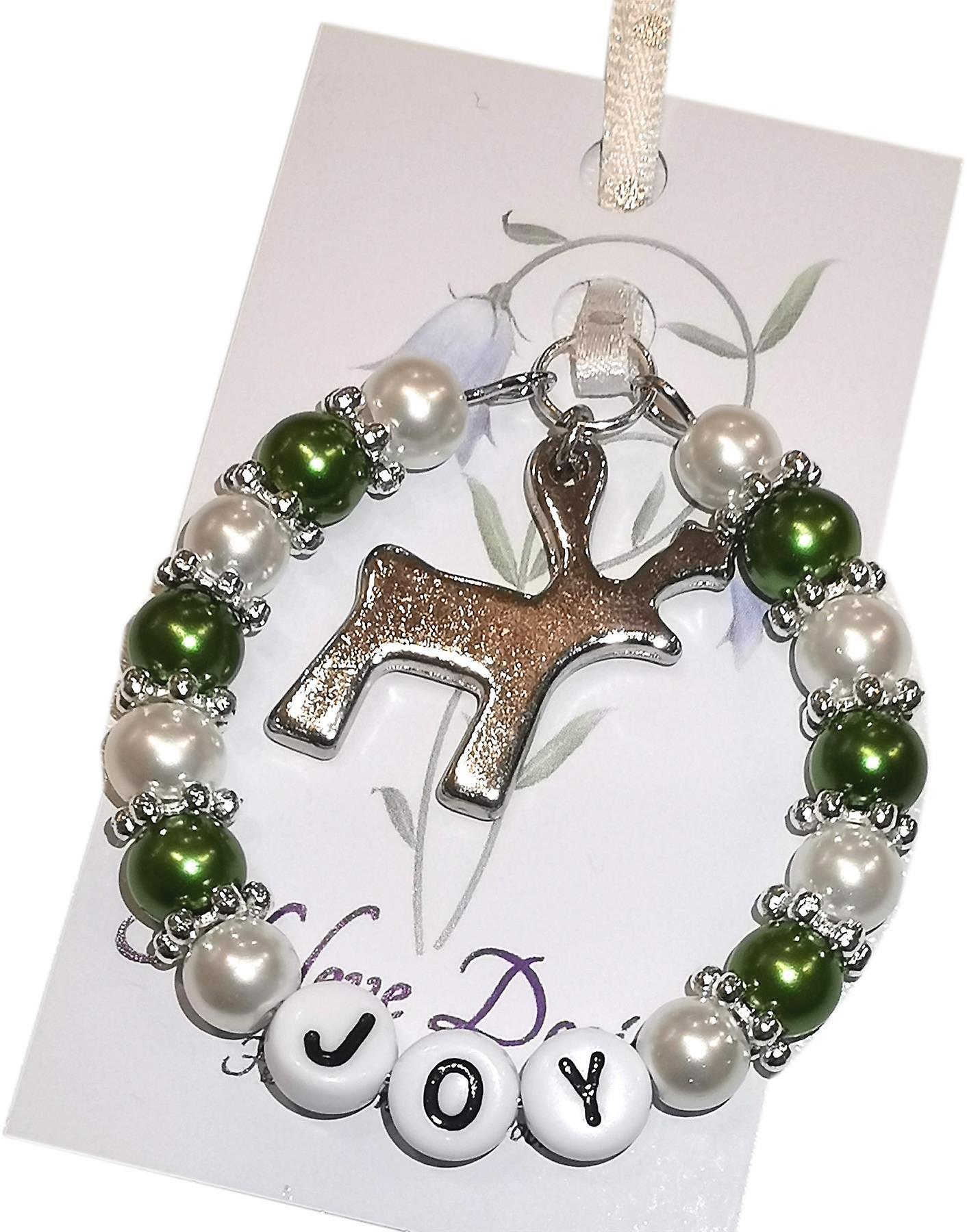 Nyleve Designs handmade Christmas Keepsake in Green - Joy