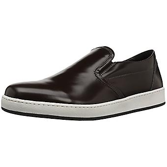 BUGATCHI Mens marrone Leather Low Top Slip On Fashion Sneakers