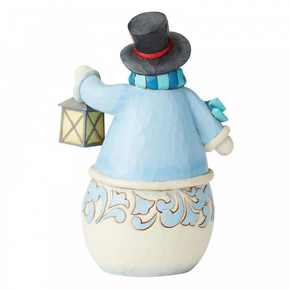 Jim Shore Heartwood Creek Calm And Bright Snowman With Village Scene Figurine