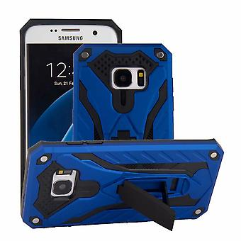 Do obudowy Samsung Galaxy S7 EDGE, armour Strong Shockproof Cover Kickstand, Niebieski