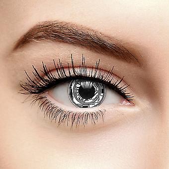 Negru Bionic Eye Terminator lentile de contact colorate (90 Ziua)