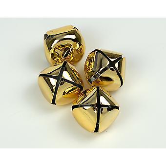 4 Gold 35mm Jingle Bells for Crafts