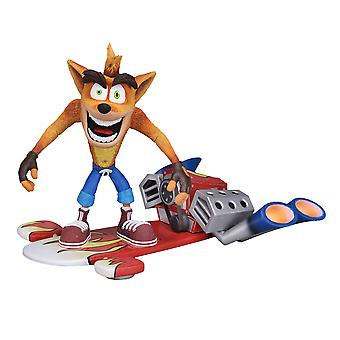 "Crash Bandicoot Hoverboard Crash 7"" Action Figure"