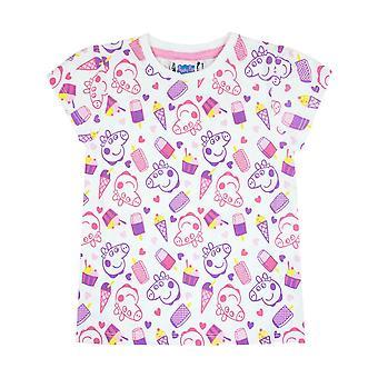 Peppa Pig All Over Print Girl's T-Shirt