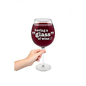 BigMouth Inc. Having A 'Glass' Of Wine Glass