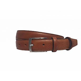 Neat Cognac Men's Belt