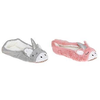 Slumberzzz Womens/Ladies Sequined Unicorn Slippers