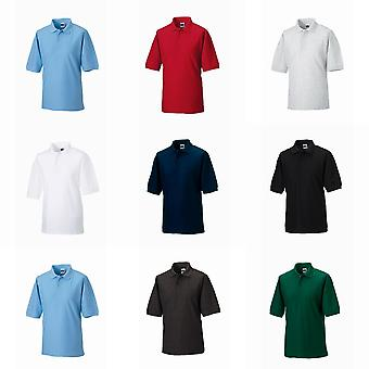 Russell Mens Classic Short Sleeve Polycotton Polo Shirt