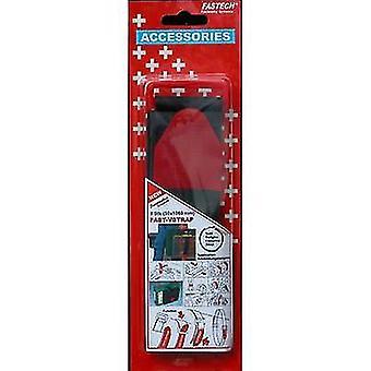 FASTECH® 911-330C Koukku- ja silmukkanauha hihnalla Koukku ja silmukkatyyny (L x W) 1060 mm x 50 mm Musta, Punainen 1 kpl
