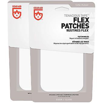 "Gear Aid Tenacious Tape 3"" x 5"" No-Sew Peel en Stick Flex Patches - 2-Pack"