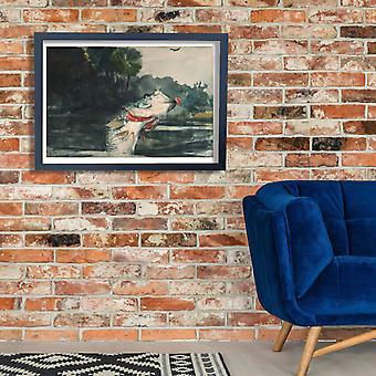 Winslow Homer - Life-Size Black Bass Poster Print Giclee