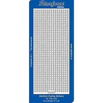 Starform Stickers Borders 64: Christmas (10 Sheets) - Silver - 0972.002 - 10X23CM