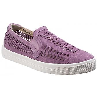 Hush Puppies Gabbie Woven Ladies Slip On Shoes Orchid