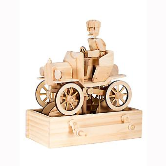 Timberkits Vintage Car Kit - Wooden Moving Model Self Assembly Construction Gift