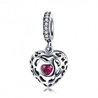 Sterling hopea riipus Charm Happiness Heart - 5925