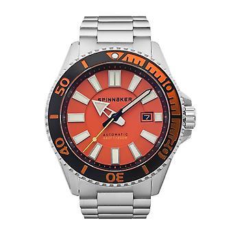 Spinnaker SP-5074-44 Gent's Amalfi Orange Dial Wristwatch