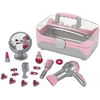Theo Klein Braun Hairstyling Case with Electric Hairdryer For Ages 3+ and Above