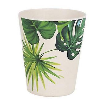 Privilégio de vidro Bambu Verde Branco/8,3 x 10 cm
