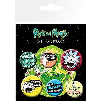 Rick și Morty Mix 1 Pin Buton Insigne Set