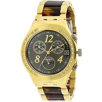 Swatch YCG405GC  Female Two Tone Stainless Steel 40MM Quartz Analog Chronograph Watch