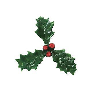 Culpitt Plastic Holly com amora vermelha - 200 peças