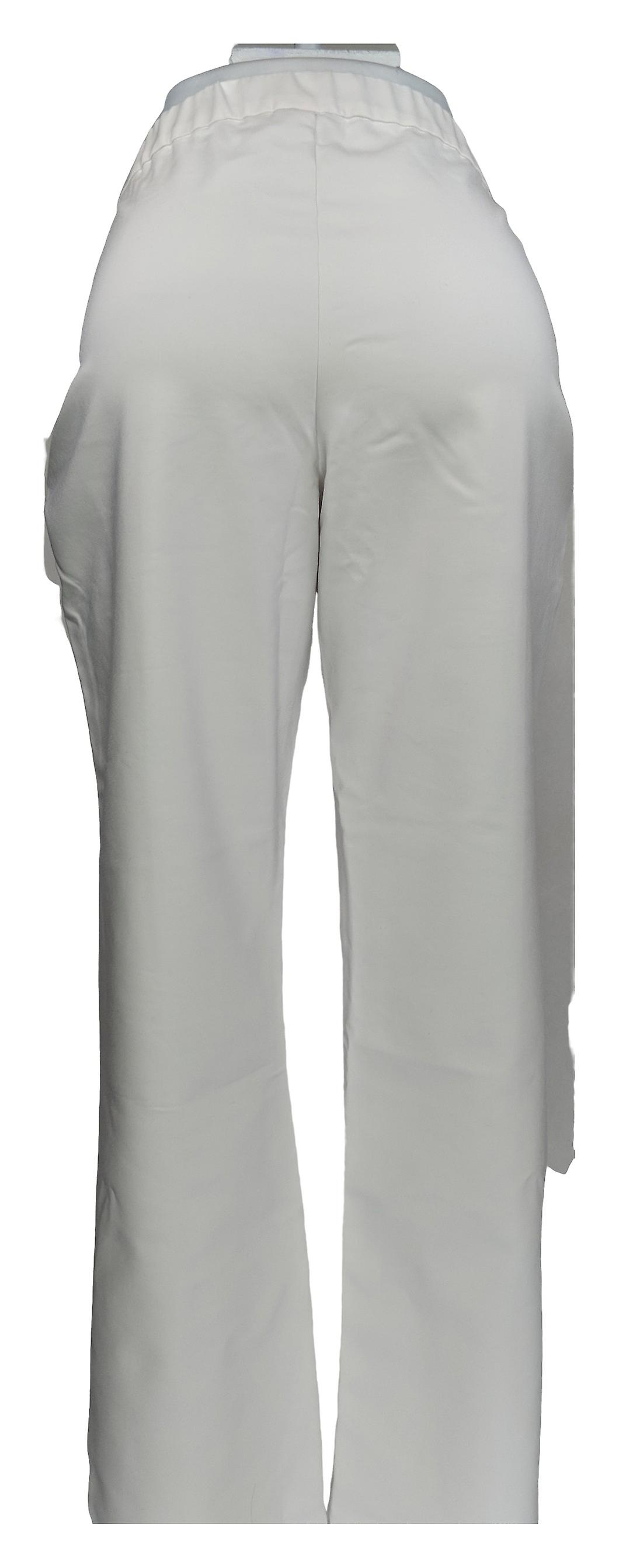 Denim & Co. Women's Pants Double Weave Straight-Leg White A349233 S4wFpY