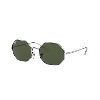 Ray-Ban Octagon RB1972 9149/31 Silber/Grün Sonnenbrille