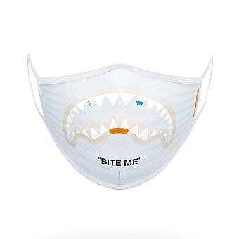 Sprayground Me Form Fitting Face Mask White