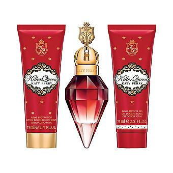 Katy Perry Killer Queen Gift Set - 30ml EDP / 75ml Shower Gel / 75ml Body Lotion