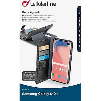Cellularline Boek Agenda Terug cover Samsung Galaxy S10+ Zwart