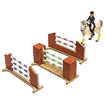 KidsGlobe  (Kids Globe) Kids Globe  Set Of 3 Horse Jumps 1:24 0119