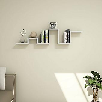 Biała półka w kolorze wyboistym, PVC 131x22x30 cm