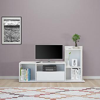 Mobile Porta TV Sumatra Color Bianco in Truciolare Melaminico 120x30x65 cm