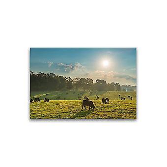 Prachtig landschap Grazende Koeien Poster -Afbeelding door Shutterstock