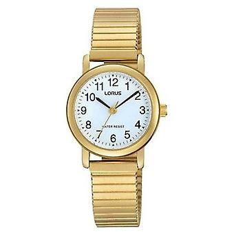 Lorus RRS78VX-9 Gold Tone pulsera expandible pulsera pulsera reloj de pulsera