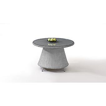 Stół poligarattanowy Klasyczny 113 cm, okrągły - szary satynowy
