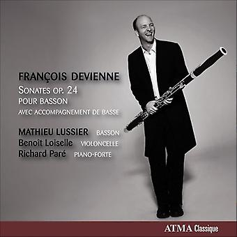 F. ドヴィエンヌ - Fran Ois ドヴィエンヌ: Sonates Op. 24 注ぐファゴット [CD] USA 輸入