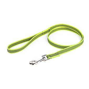 """Julius-K9 Color & Gris Super-Grip Correa Denado-Gris Ancho (0.7""""/ 20mm) Longitud (4 pies / 1,2 m) Con mango, Max para 110lb / 50 kg Perro,"""