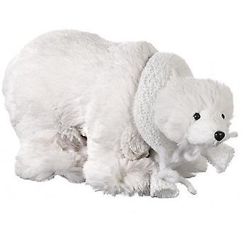 Plush Polar Bear Decoration